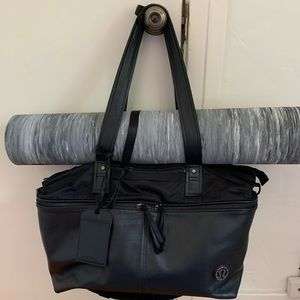 Lululemon Leather Gym to Work Commute Bag